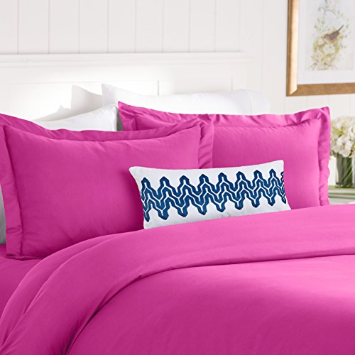 Elegant Comfort Best, Softest, Coziest Duvet Cover Ever! 1500 Thread Count Egyptian Quality Luxury Super Soft Wrinkle Free 3-Piece Duvet Cover Set, Full/Queen, Hot Pink
