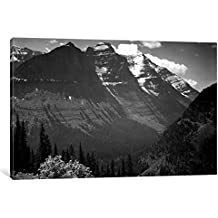 """iCanvasART In Glacier National Park II Gallery Wrapped Canvas Art Print by Ansel Adams, 26"""" x 1.5"""" x 40"""""""
