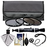 Hoya 72mm 3-Piece Digital Filter Set (HMC UV Ultraviolet, Circular Polarizer & ND8 Neutral Density) with Case + Cleaning Kit for Canon, Nikon, Sony, Olympus & Pentax Lenses