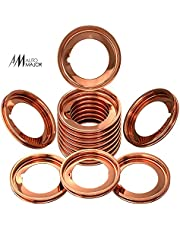 20 Pcs Oil Drain Plug Gasket - Copper Crush Washer Oil Drain Plug - Replacement for Nissan/Infiniti Oil Crush Washer OEM 11026-01M02 11026-JA00A - Replacement for Ford OEM F4XY-6734-A by Automajor