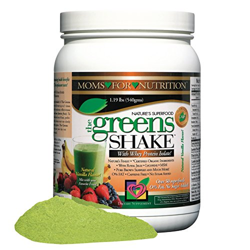 Greens Shake Powder Drink with Whey Protein Isolate and Concentrated Fruit and Vegetable Extracts