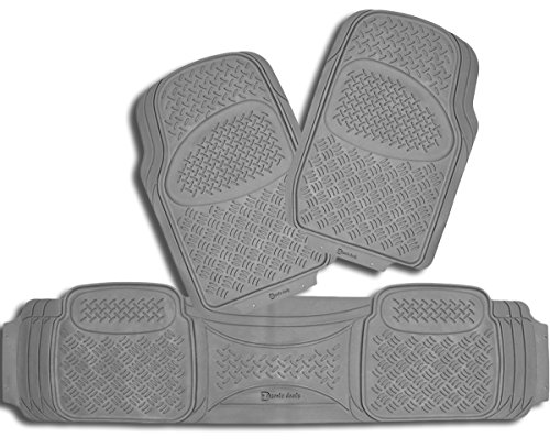 Zento Deals 3 Piece Gray Universal Fit Premium Quality Full Rubber-All Weather Heavy Duty Vehicle Floor Mats - Garage Floor Paint Reviews