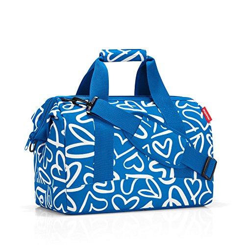 Reisenthel MS7033 Einkaufstasche, Allrounder 18 Liter (40X33.5X24 cm) M, graphite Blau / Weiß
