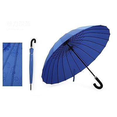 Creative Long Manche Double Parapluie 24 Os Grand Parapluie Coupe-Vent Hommes Et Femmes Parapluie Ensoleillé