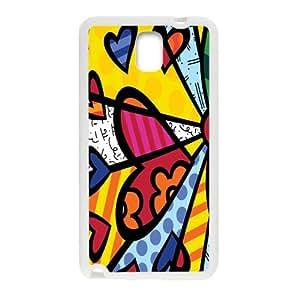 Britto Romero Britto Beach Towel Heart Design Cell Phone Case for Samsung Galaxy Note3