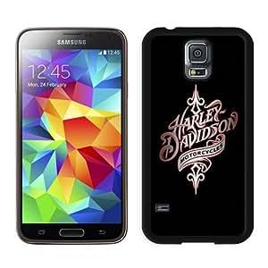 harley davidson 1 Black Durable Hard Shell Samsung Galaxy S5 I9600 Phone Case