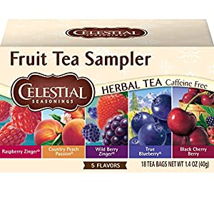 Celestial Seasonings Herbal Tea, Fruit Tea Sampler, 18 Count (Pack of 6) 2