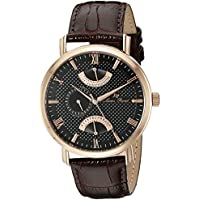 Lucien Piccard Men's LP-10340-RG-01-BRW Verona Analog Display Quartz Brown Watch