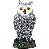 Scarecrow Fake Owl Decoy - Pest Repellent Garden Protector - (small)