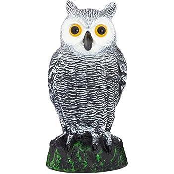 Scarecrow Fake Owl Decoy   Pest Repellent Garden Protector U2013 (small)