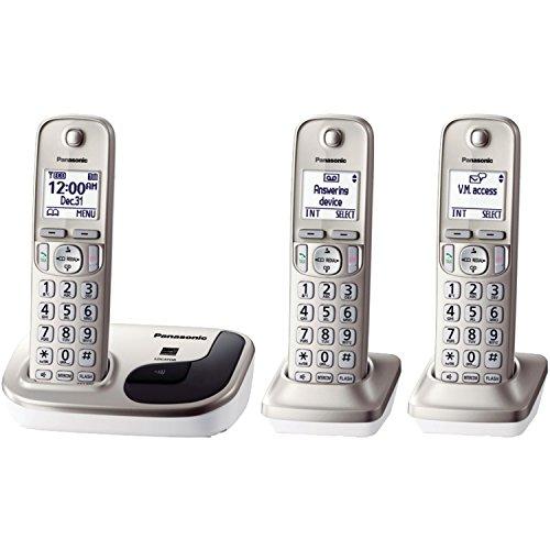 Panasonic KX-TGD213N dect_6.0 3-Handset Landline Telephone