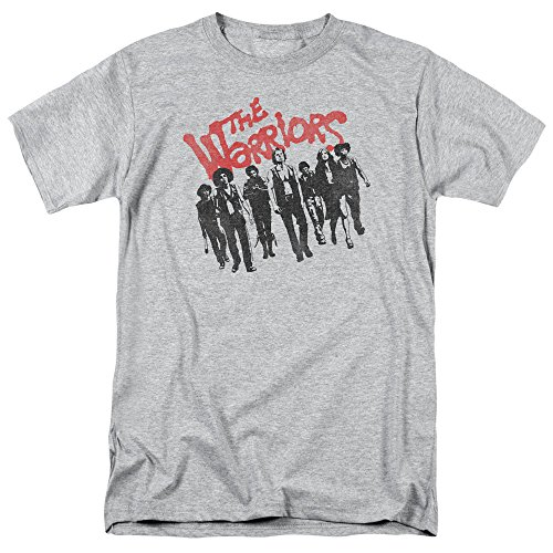 The Warriors NYC Gang Thriller Action Movie The Gang Adult T-Shirt Tee Gray