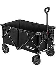 VIVOSUN Camping Folding Wagon Collapsible Garden Outdoor Utility Cart with Storage Bag, Black