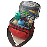 Insulated Lunch Bag / Cooler Bag - Multipurpose - Removable Insulated Sleeve - Extra Heavy Insulation