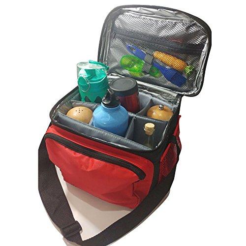 Insulated Lunch Bag / Cooler Bag - Multipurpose - Removable Insulated Sleeve - Extra Heavy Insulation (Insuated)