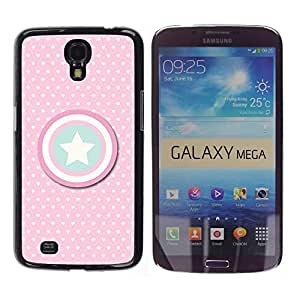 Impact Case Cover with Art Pattern Designs FOR Samsung Galaxy Mega 6.3 Captain Pink Polka Dot America Shield Betty shop