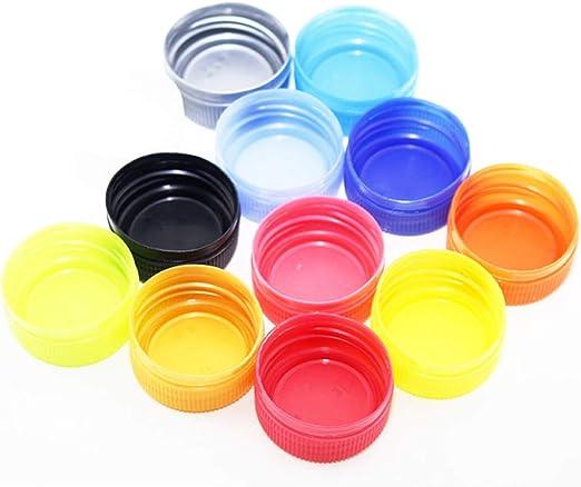LIOOBO 200 Piezas Tapas de Botellas de Plástico Tapas de Botellas ...
