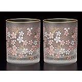 Aderia Japanese Sakura Blossom Old Fashioned Glass of 2 Set - 300ml, 10 floz