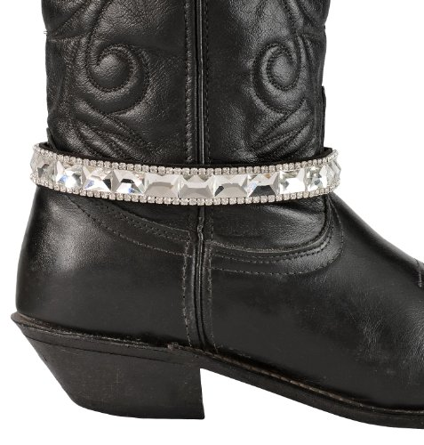 3D Women's Crystal Boot Bracelet Black One Size