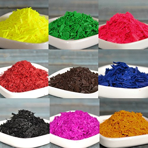 Waxes Vegetable (9 Dye Colors, Dye Chips, Candle Dye Colors, Dye Colors for Candle Making, Candle wax Dye, Best for Soy, Paraffin, Beeswax, and Vegetable waxes 0.07oz/bag (9 Dye Colors))