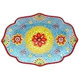 Certified International 22459 Tunisian Sunset Oval Platter, 16'' x 12'', Multicolor
