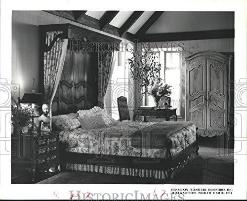 Historic Images - 1983 Press Photo Henredon Furniture Industries Inc. Canopy Bedroom Set (Henredon)
