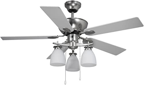Canarm CF42NEW5BPT New Yorker Dual Mount 42-Inch Ceiling Fan