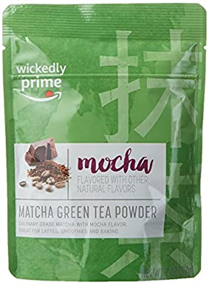 Wickedly Prime Matcha Green Tea Powder, Mocha Flavored, Culinary Grade, 2 Ounce