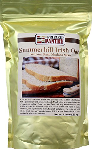 The Prepared Pantry Summer Hill Irish Oat Bread Machine Mix, 22 Ounce by The Prepared Pantry