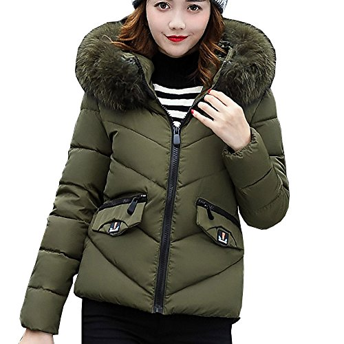 Amazon.com: Nmch Womens Hooded Down Coat Long Parka Jacket Slim Warm Thicken Winter Outerwear With Faux Fur Collar (Army Green, XXL-Large)