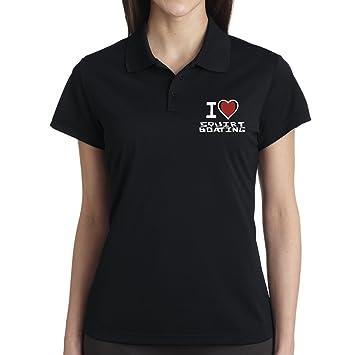 Squash tenis polo para mujer I Love negro extra-large: Amazon.es ...