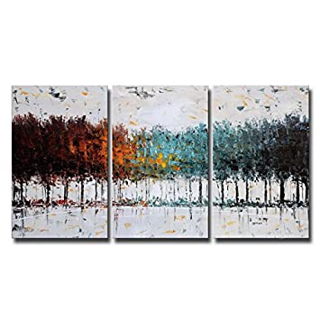 Hochwertig Bunter Wald Auf Leinwand, Gemälde, Abstrakt 100% Handgemalte Bilder Für Schlafzimmer  Wohnzimmer Dekoration