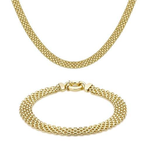 Carissima Gold - Parure Collier et Bracelet - Femme - Or Blanc 375/1000 (9 Cts) 15.3 Gr