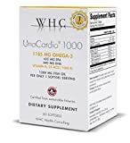 1000 iu vitamin e - WHC - UnoCardio 1000 (60 Softgels) - 1280 mg of pure Triglyceride fish oil with high concentration omega-3 (1185 mg), 652 mg EPA and 440 mg DHA and 25 mcg (1000 IU) vitamin D3 per softgel