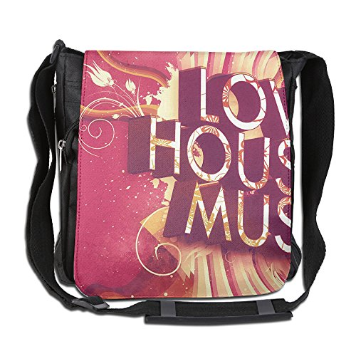 Rochelle House (ROCHELLE AYOKO Men's Women's Messenger Bags Love House Music Single Shoulder Bags Large CapacityDrawstring Backpack For Traveling Shopping School)