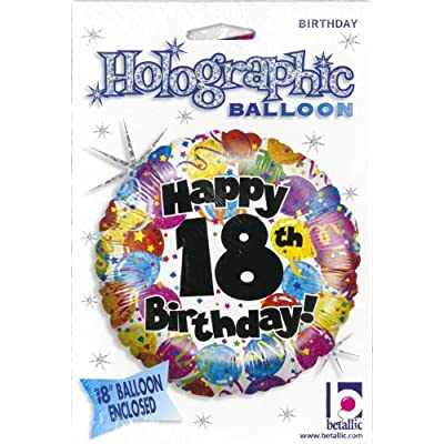 Betallic 18th Birthday Party Holo Balloon Package, 18