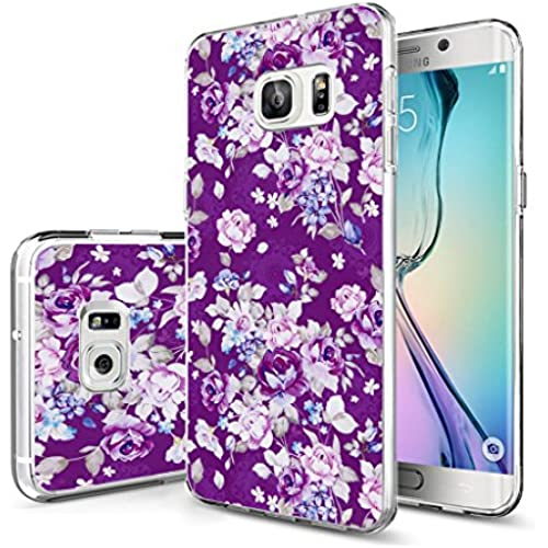 Case for Galaxy S7 Edge Floral / Galaxy S7 Edge Protective Cover Purple Flower Floral Art Design Sales