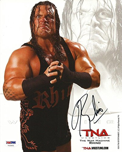 WE 8x10 Photo COA ECW TNA Impact Pro Wrestling Promo - PSA/DNA Certified - Autographed Wrestling Photos ()