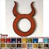 Taurus metal wall art home decor – Choose 11″, 17″, or 23″, Choose Patina color, Choose any Horoscope Zodiac Symbol