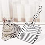 MOGOI Cat Litter Scoop, Pet Cat Litter Shovel Metal Wire for Kitty, Cat Litter Scooper Sifter with Deep Shovel and Ergonomic Handle for Efficiently Cleaning