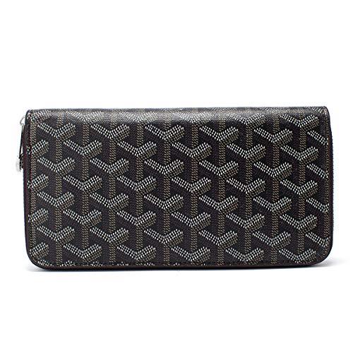 Women's Zip Around Wallet and Phone Clutch RFID Blocking with Card Holder Organizer (Black)