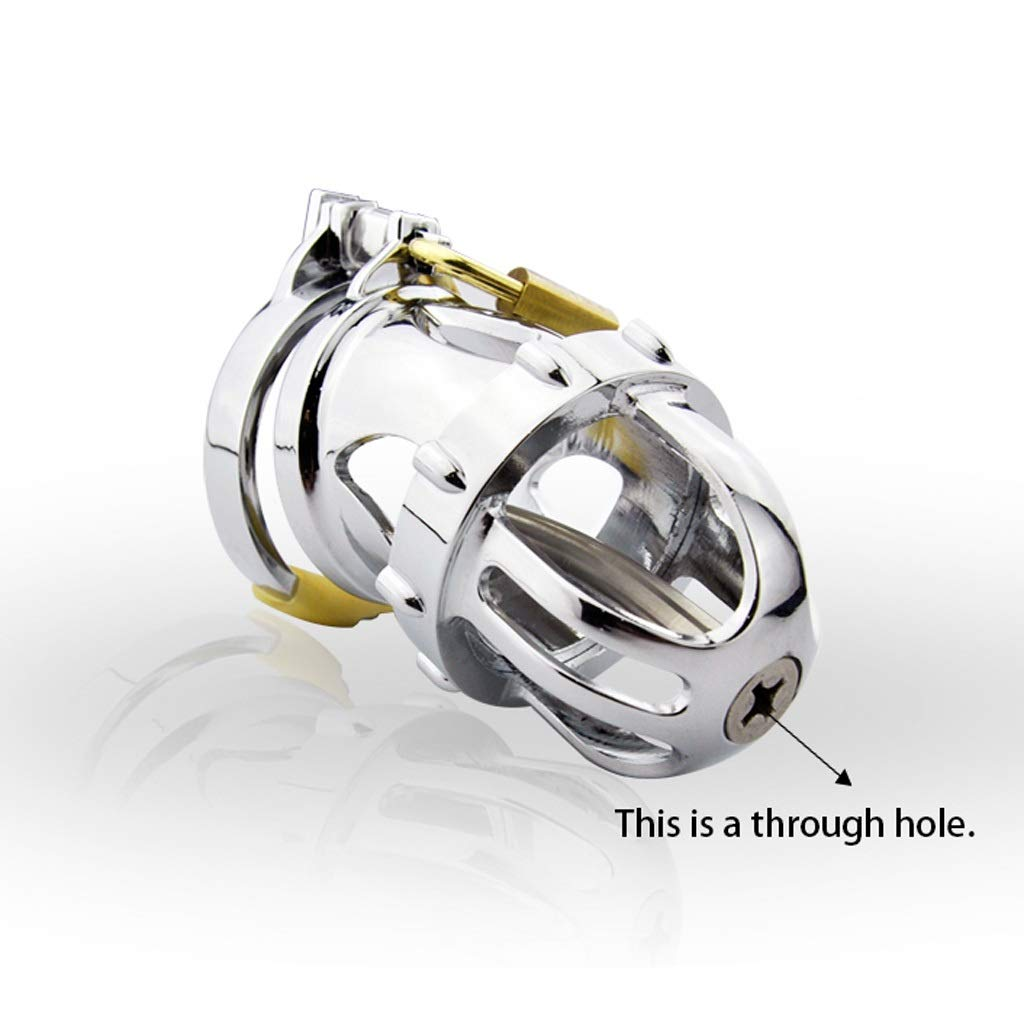 Luckly77 Male Stainless Steel Clasp Ring Cb6000s Chastity Device Virginity Lock Non-Toxic, No Odor for Husband Jeans (Size : 48mm) by Luckly77