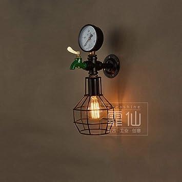 AZWE 1-Light Industrial Vintage Pipas de agua Lámpara de ...