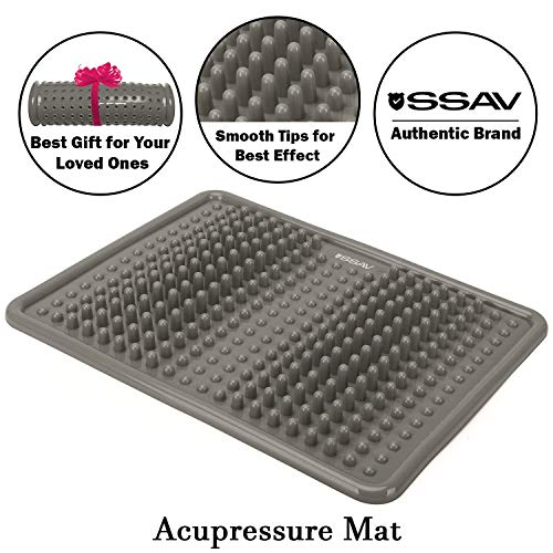 Grey Foot Massage Mat for Plantar Fasciitis Treatment, Acupressure Massage Mat for Pain and Stress Relief, Reflexology Mat to Make You Active, Improve Your Sleep and Make You Feel Good
