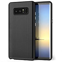 Galaxy Note 8 Case, SPARIN Dual Layer Armor Cover for Samsung Galaxy Note8 with Easy Access to S Pen [Slim Fit] [Anti-Skid] [Shock Absorptive] [Scratch Resistant] - Black