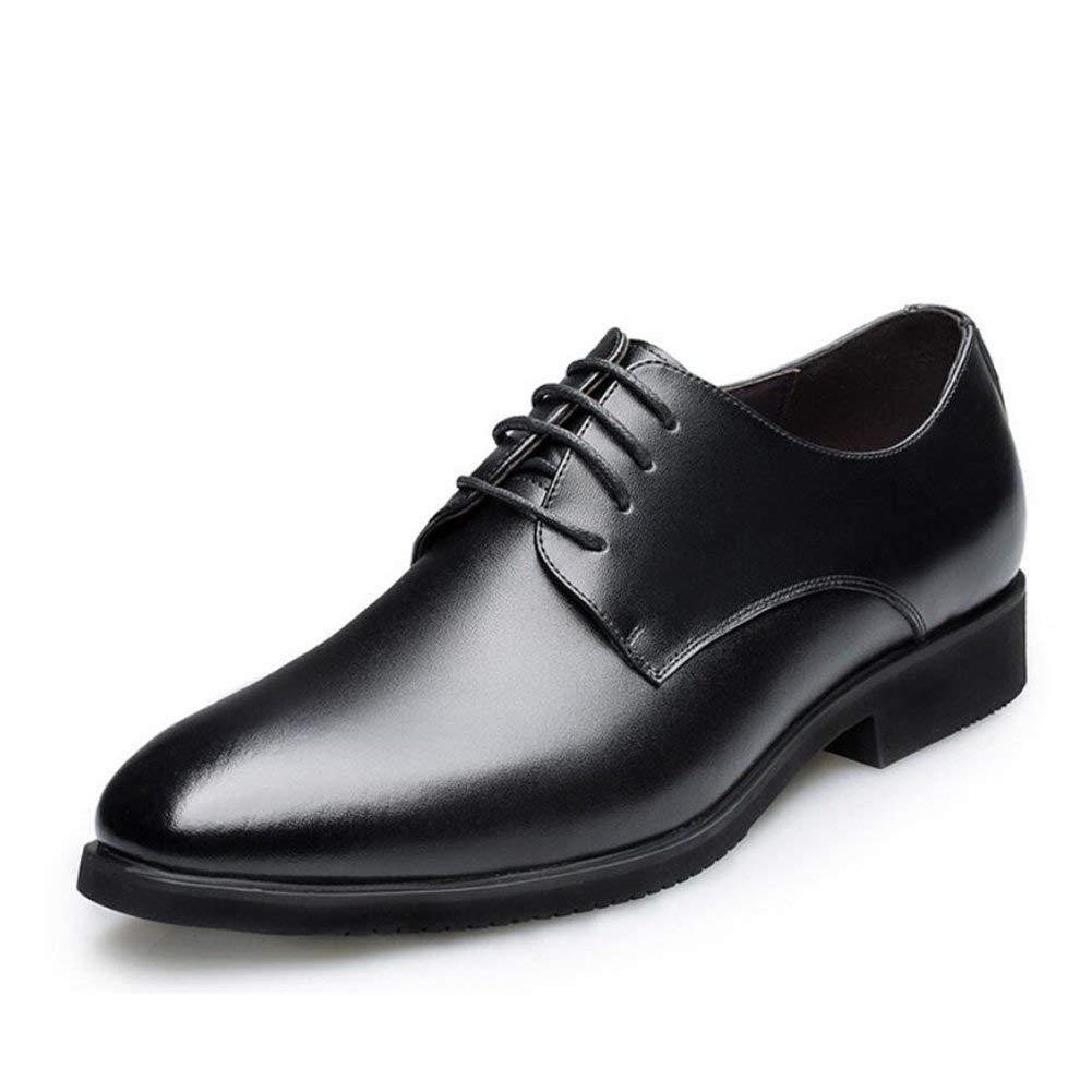 Formale Geschäfts-Schuhe der Männer, Intelligente Zufällige Formale Geschnürte Spitzes Lederschuhe, Hochzeits-Abschlussball-Büro-Klassiker,schwarz,38 ( Farbe   Wie gezeigt , Größe   Einheitsgröße )