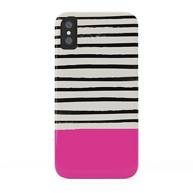 reputable site 757b3 18db8 Amazon.com: Society6 iPhone X Cases, Featuring Bright Rose Pink x ...