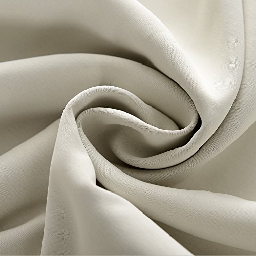 Outdoor Curtain Beige 200'' W x 96'' L Pinch Pleated For Track or Traverse Rod with Ring,at Front Porch, Pergola, Cabana, Covered Patio, Gazebo, Dock, and Beach Home. by ChadMade