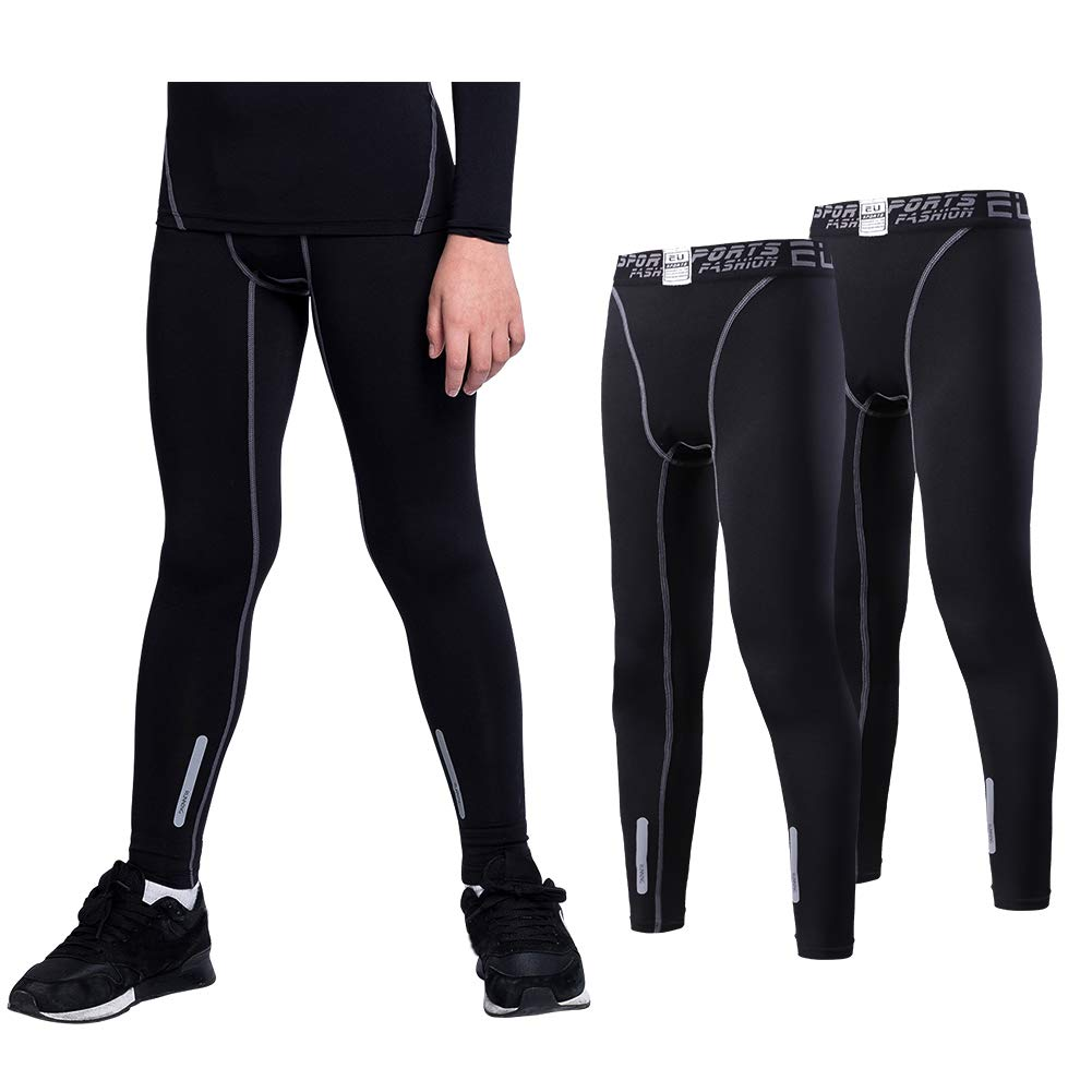 096cccab24 MECH-ENG Boys & Girls Compression Base Layer Underwear Long Sleeve Shirts  Pants Set product
