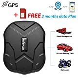 Vehicle GPS Trackers,TKSTAR Waterproof Car Tracking Device Canada Real Time Spy GPS Locator,Battery 3 Months,Powerful Magnet,Shock Alarm,Speed   Limit and Geo-Fence for Cars Truck Boats Fleet TK905(with SIM Card & Free Data)